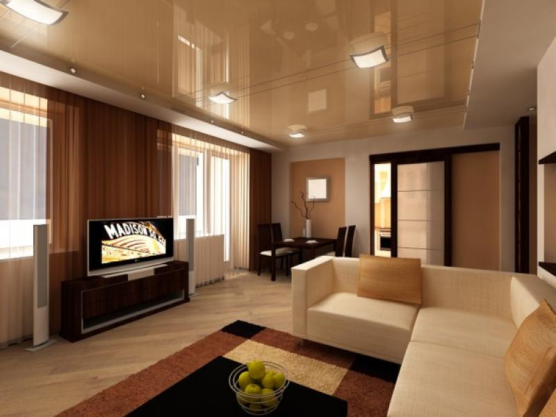 Дизайн натяжных потолков в квартире