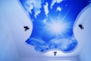 Натяжные потолки облака небо солнце