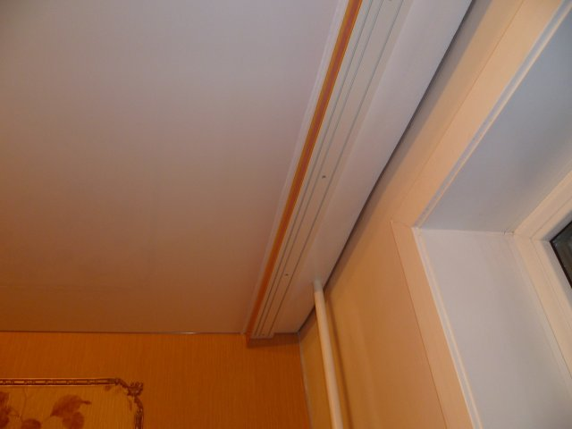 гардина на натяжном потолке