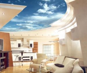 Натяжной потолок с изображением неба