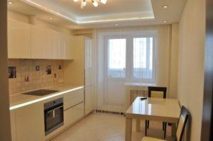 Двухуровневые натяжные потолки для кухни с фото